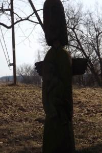 Riešės žirgyne ( buv dvare) Angelas su kumeliuku